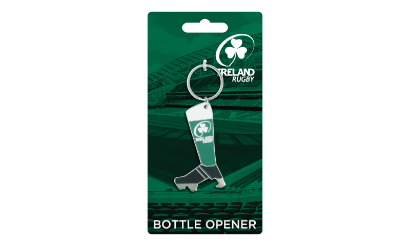 Irish Rugby Boot Bottle Opener Keyring
