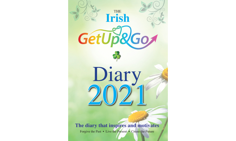 """Get Up & Go A5 """"Inspirational Irish"""" Deluxe Padded Hardcover Diary 2022"""