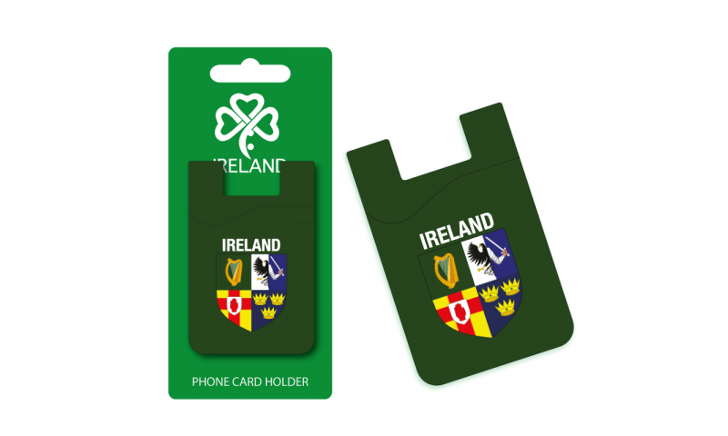 Ireland Provinces  Silicon Credit Card Phone Holder - Hangcarded