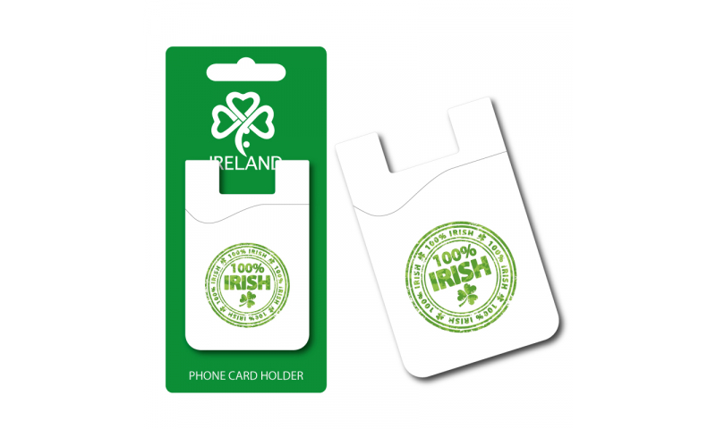 100% Irish Silicon Credit Card Phone Holder - Hangcarded