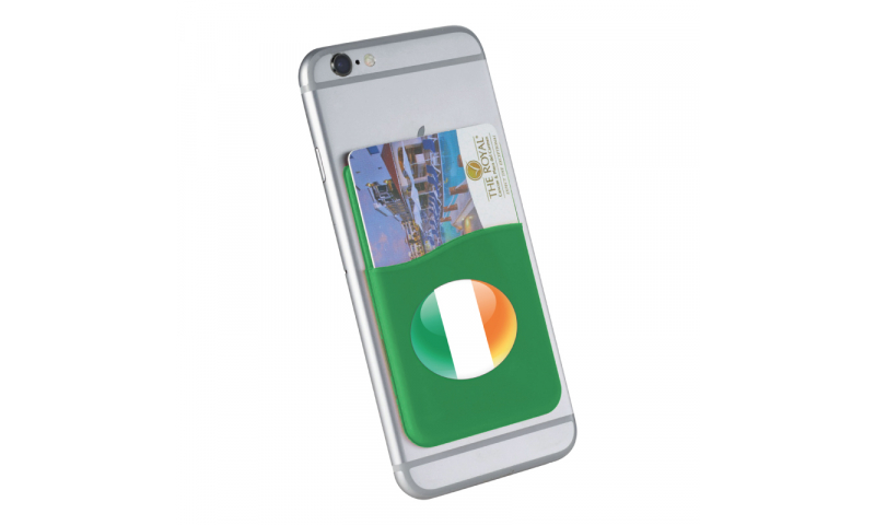 Ireland Tricolour Flag Silicon Credit Card Phone Holder - Hangcarded