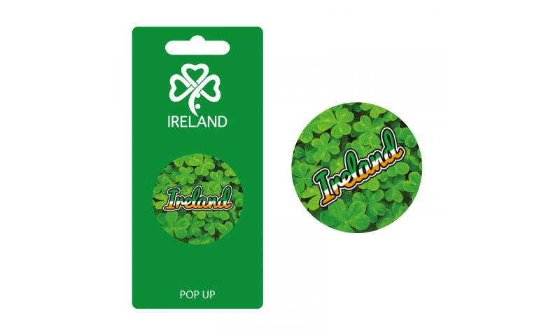 Ireland Shamrocks Pop Up Phone Holder - Hangcarded