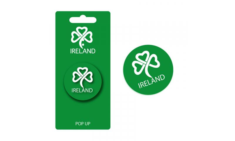 Green Shamrock Pop Up Phone Holder - Hangcarded