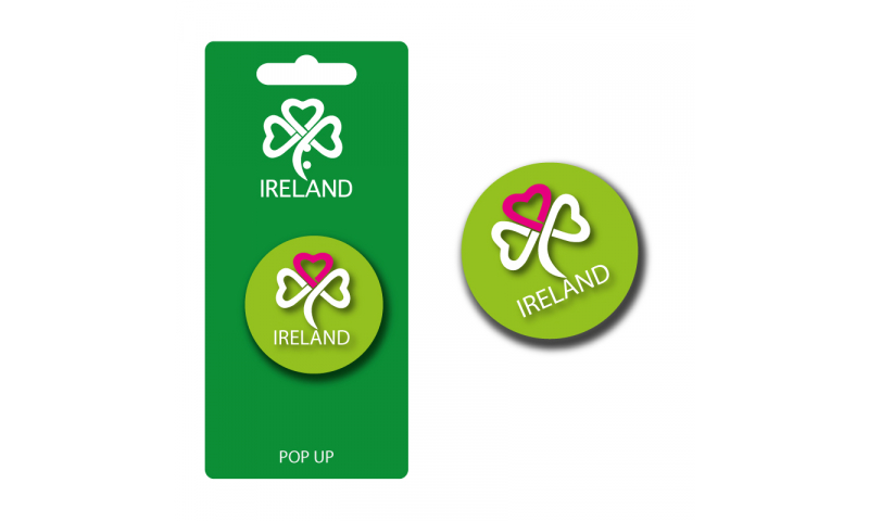 Light Green / Pink  Shamrock Pop Up Phone Holder - Hangcarded