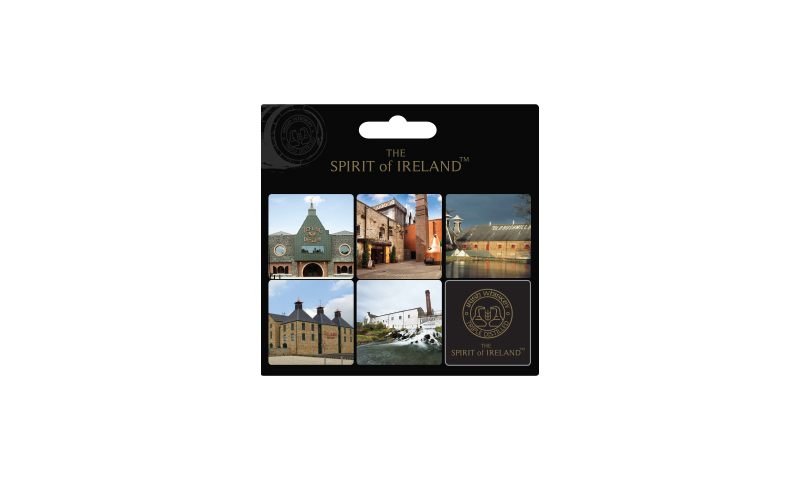 Spirit of Ireland 6pk Magnet Set on Headercard