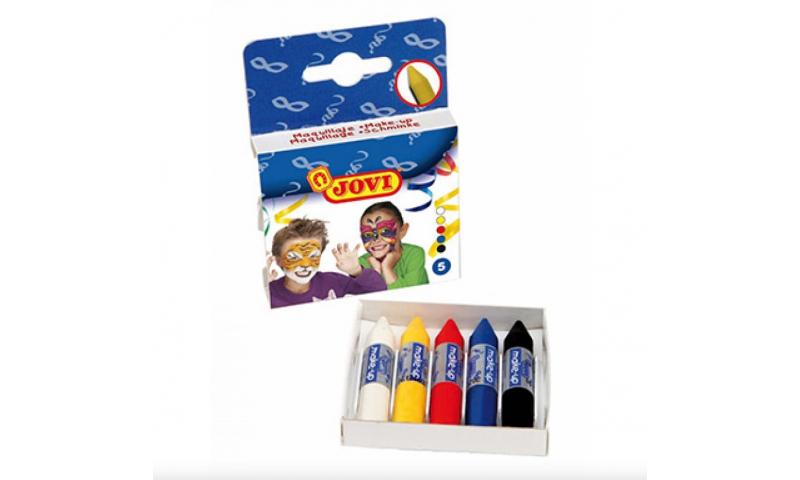 JOVI Face Paint, Make up Sticks - Hangpack of 5 assorted.