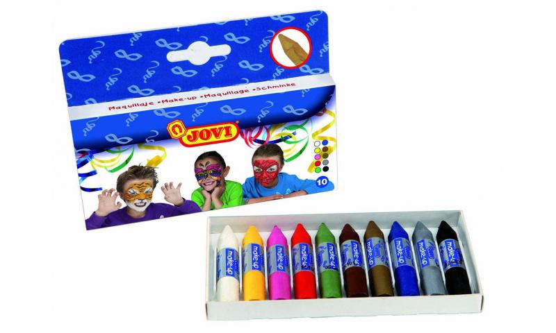JOVI Traditional Stick Face Paints - box of 10 units - 5,6 gram.
