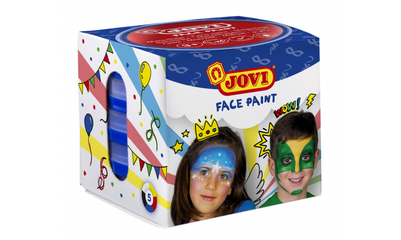 JOVI Easy Wash Cream Face Paint - Box of 5 Primary Colour 20ml Tablets