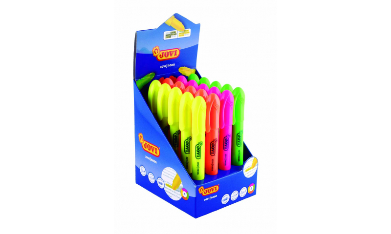 JOVI Neon Gel Twist Highlighters - Display of 20 assorted  (New Lower Price for 2021)