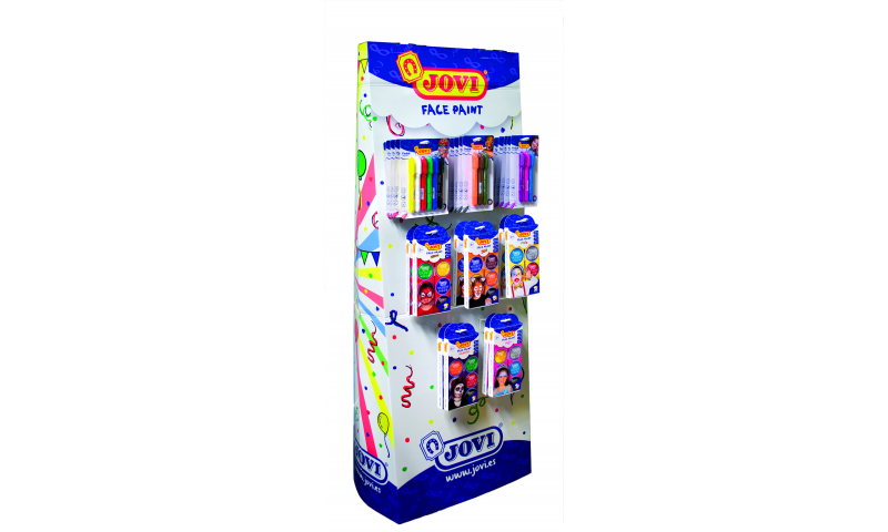 JOVI Easy Wash Face Paint - Filled Floor Standing Display