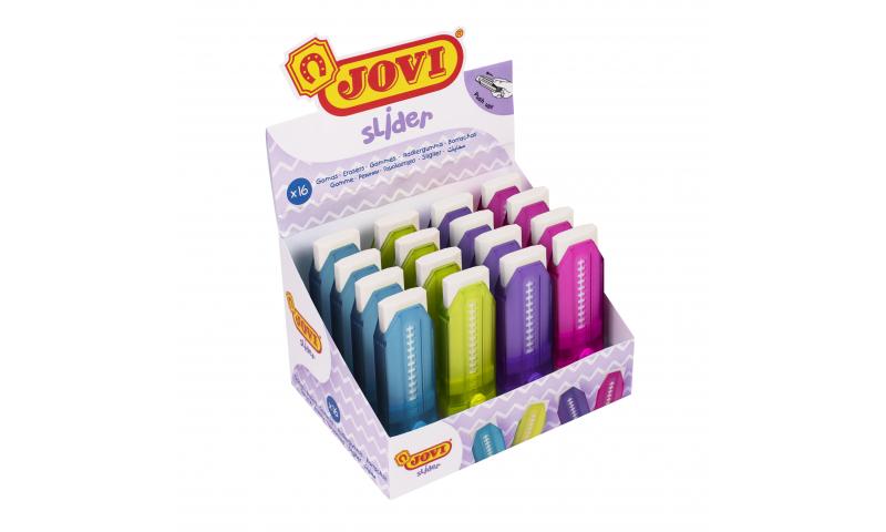 JOVI Slider Eraser in case - Display of 16 assorted. (New Lower Price for 2021)