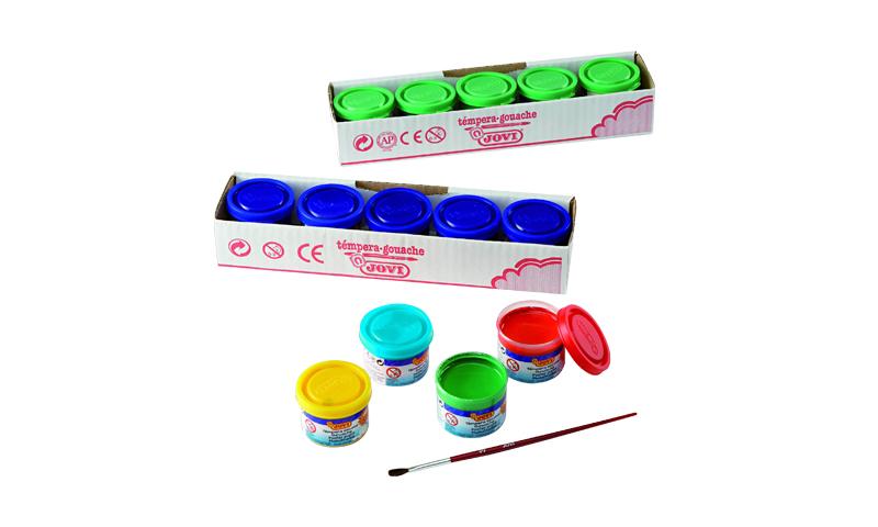 Jovi School Tempera Paint, 35ml Individual Pots, 13 Colours to choose