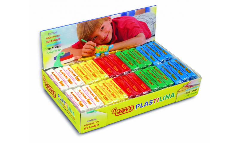 JOVI Plastilina Modelling Clay Display of 30 units - 50gr - 6 Primary colors