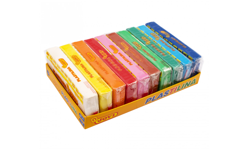 JOVI Plastilina Modelling Clay  tray of 10 units - 150gr - 10 assorted colors