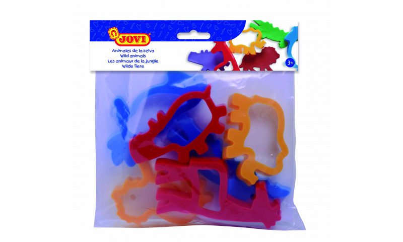 JOVI Modelling Moulds - bag - 6 units - Jungle animals