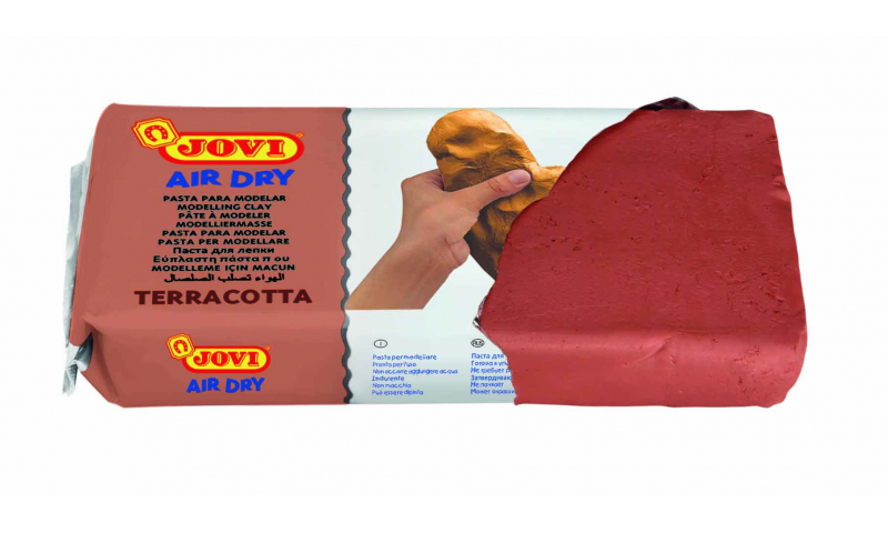 JOVI Air Drying Modelling Clay - 1000g Terracotta. (New Lower Price for 2021)