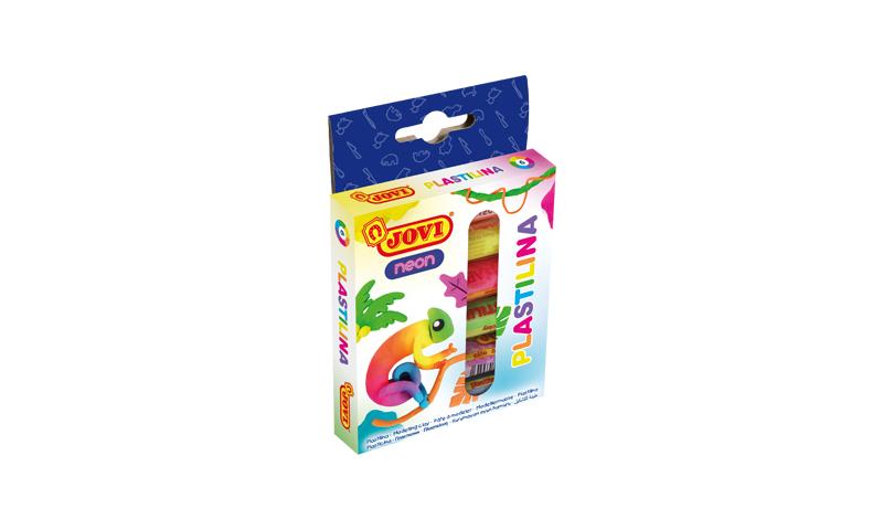 JOVI Plastilina 6 x 15g Neon Colours, hangpacked