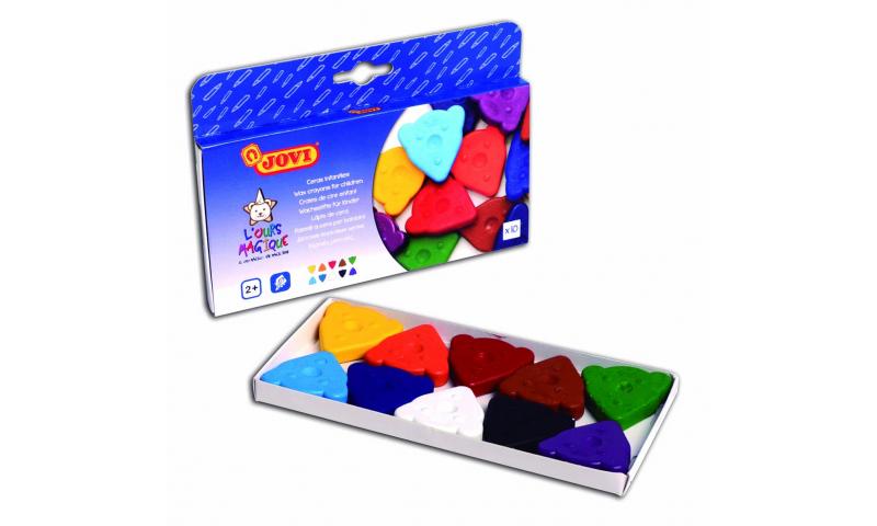 JOVI Magic Bear Beginners Wax Crayons 10pk Asstd