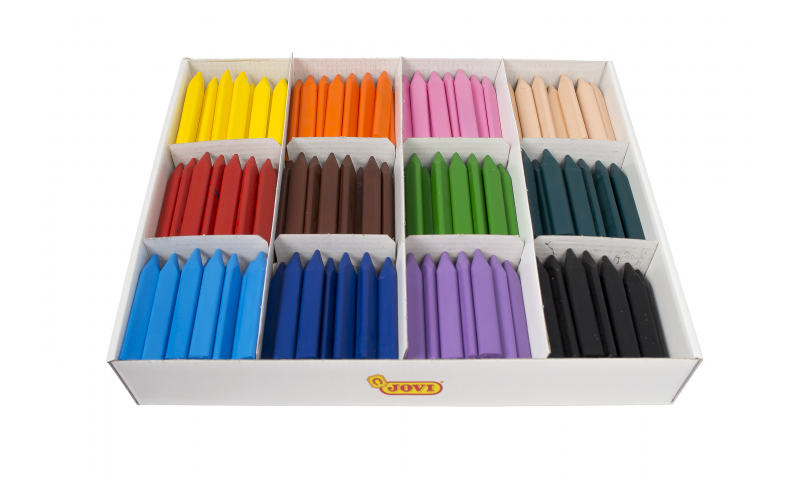 JOVI Jovicolor Large Triwax Wax Crayons - Economy Class pack of 300 units asstd.  (New Lower Price for 2021)