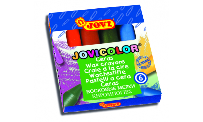 JOVI Jovicolor Chubby Wax Crayons - Hangpack of 6 assorted colours