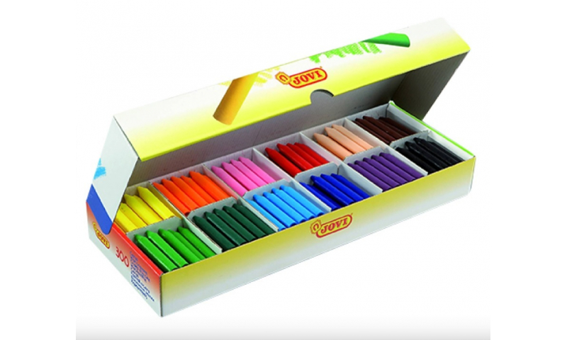 Jovi Chunky Beginners Wax Crayons, Classpack of 300 - Fantastic Value!