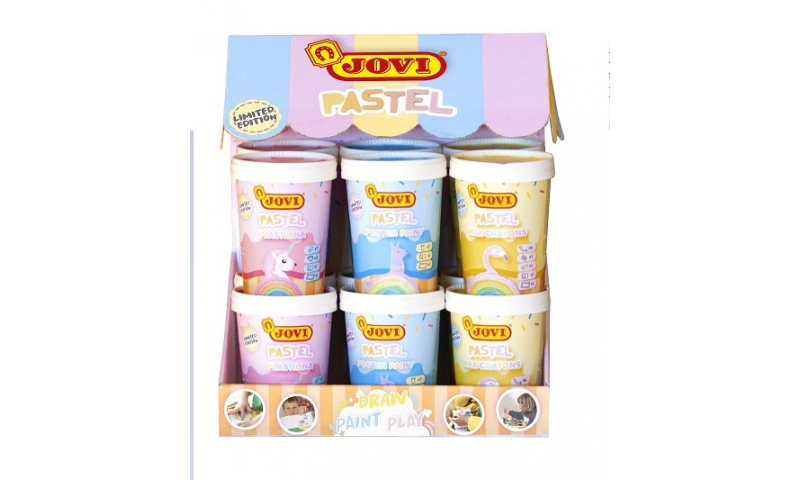 JOVI Pastel Creative Selection Tubs, 3 Asstd in Retail Display (Fantastic New Play concept)