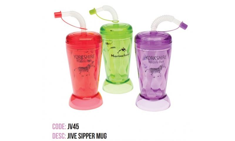 Jive Diamond Beaker, Asstd Colours, Printed with your Logo