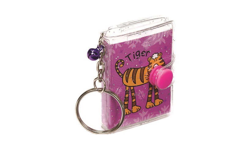 Jolly Jungle Mini Notebook Keyring, 3 Asstd