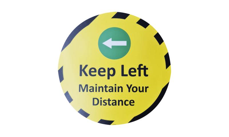 COVID-19 Keep Left Maintain Your Distance Vinyl Floor Sticker