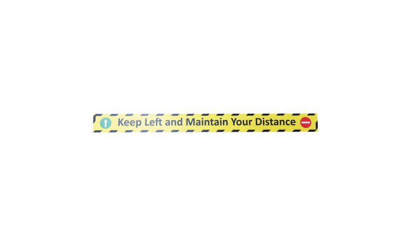 COVID-19 Keep Left and Maintain Your Distance Vinyl Floor Sticker