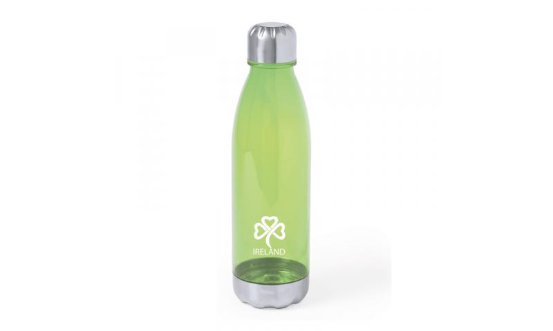 Ireland KeepMe Sports Bottle, Transparent Green 700ml, Steel base & Cap