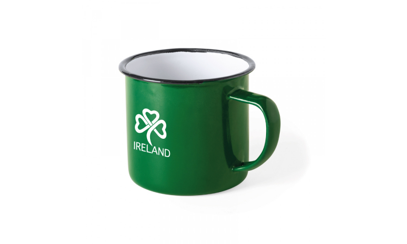 Ireland KeepMe Vintage Enamel Mug, Green 380ml