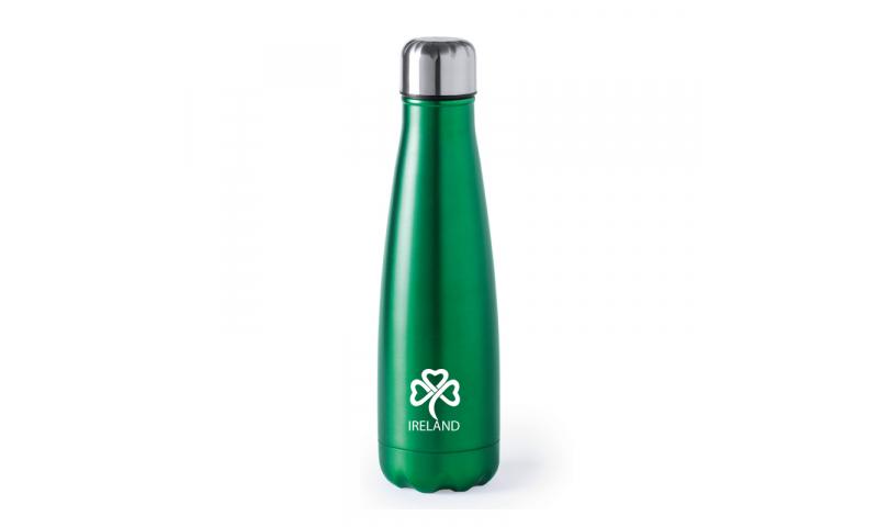 Ireland KeepMe Stainless Steel Bidon Bottle Green 630ml, Safety Lid