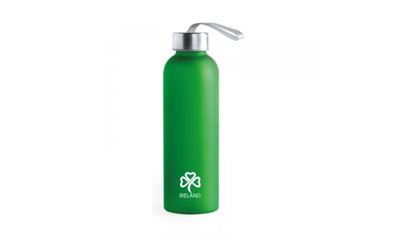 Ireland KeepMe Sports Bottle, Translucent Green 580ml, Steel screw Cap