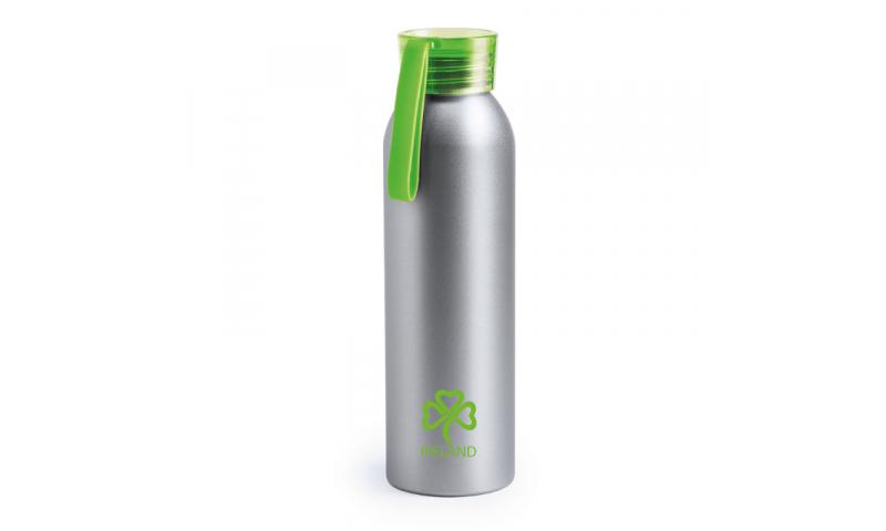 Ireland KeepMe Aluminium Flask Green 650ml, Carry Strap