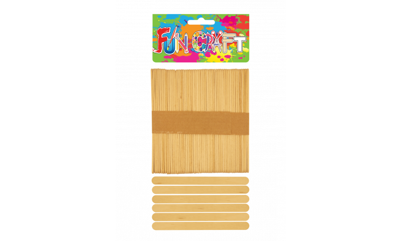Craft with Fun Natural Standard Lollipops 50pk (New Lower Price for 2021)