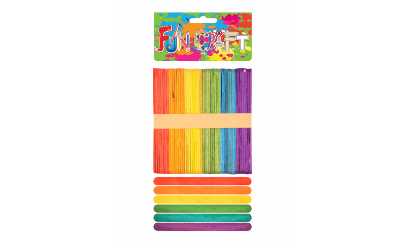 Craft with Fun Coloured Standard Lollipops 48pk