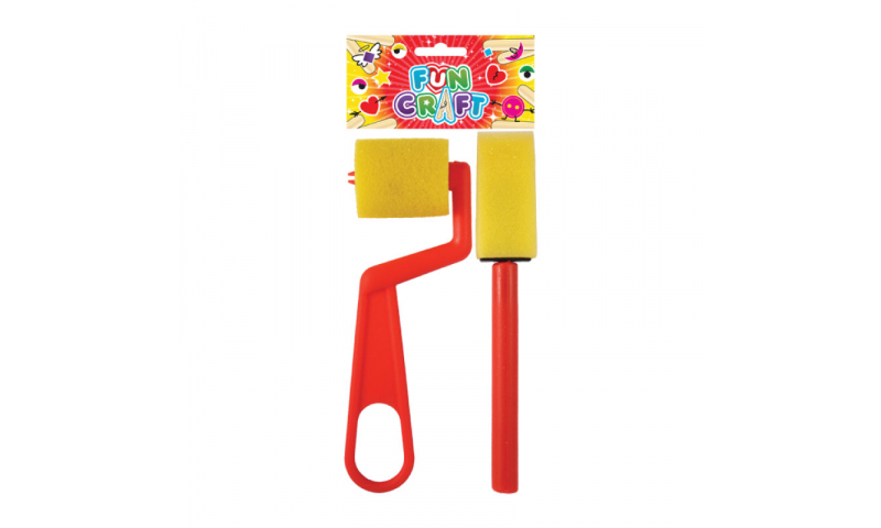Craft with Fun Sponge Tool Roller & Spreader in Hangpack (New Lower price for 2021)