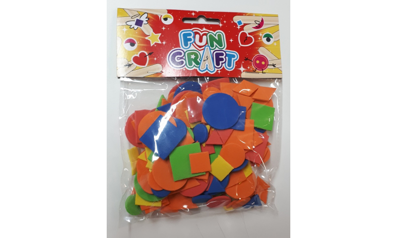 Craft with Fun EVA Shapes, 14g, 5 Asstd Colours & Shapes