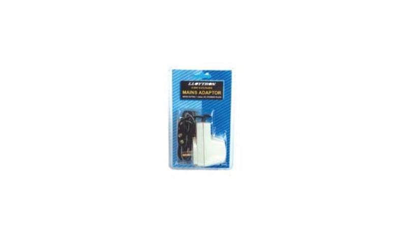 Lloytron mains power Multi Adaptor, 6 Volt Settings & 4 Input plug options: On Special Offer