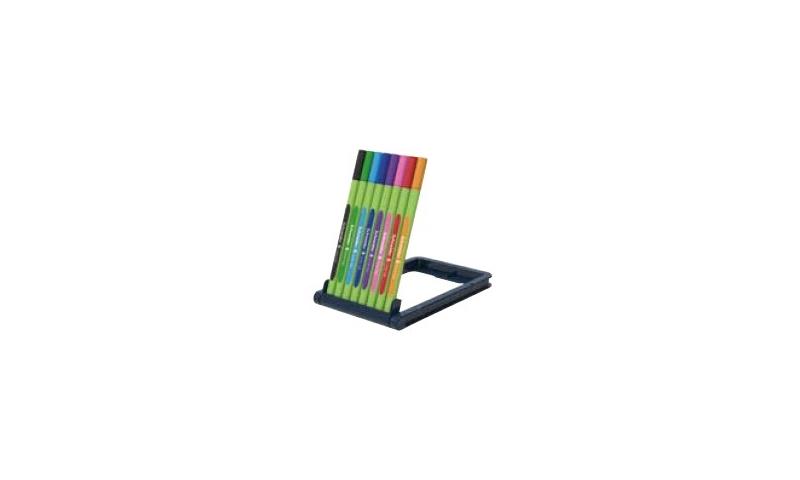 Schneider Line- Up Biodegradable Fineliner set, Stand up Deskset of 8 Colours