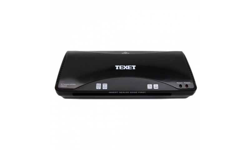 Texet A4 Laminator, for up to 250mic, Twin Roller, Easy Jam Release, Fast Warm Up