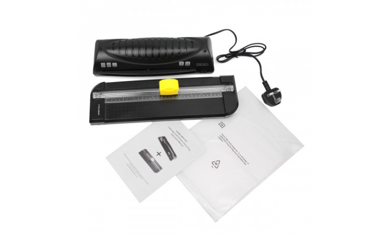 Texet A4 Laminator 160mic + Trimmer + Pouches Set (Only 1 left!)