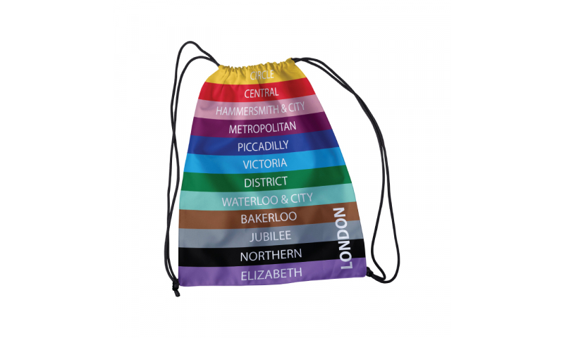 London Transport Drawstring Bag