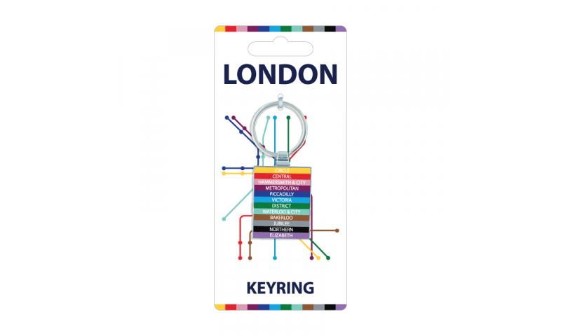 London Transport Chromium Keyring