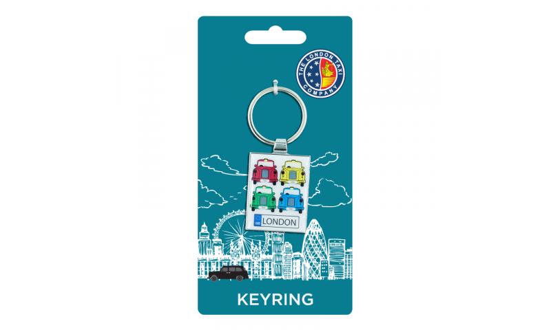 London Taxi Co. CHROMIUM KEYRING - Taxi Colours