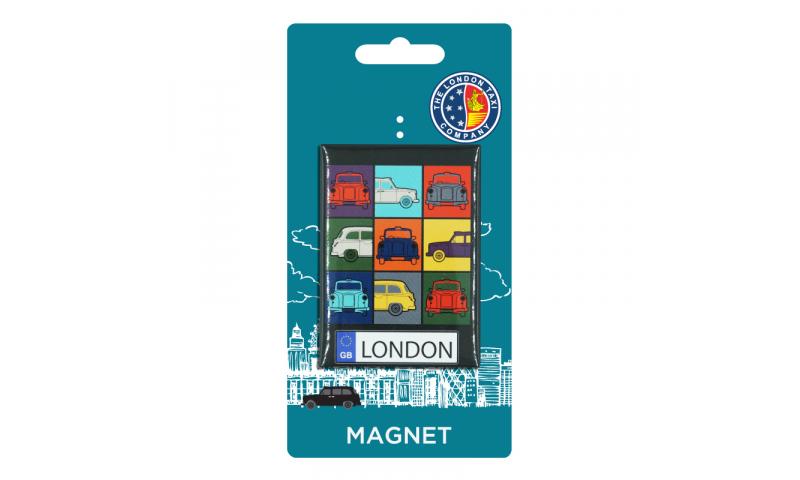 London Taxi Co. TIN MAGNET - Taxi Retro Colours