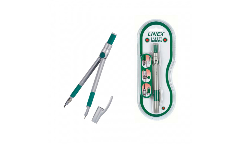 Linex Safety Pencil Compass with Pocket Clip, Carded