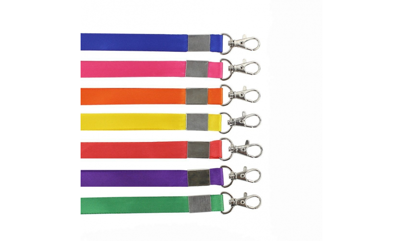 Deluxe Polyester Woven Lanyard With Chrome Fitting 20mm Wide x 900mm Neck Break Asstd (New Lower Price for 2021)