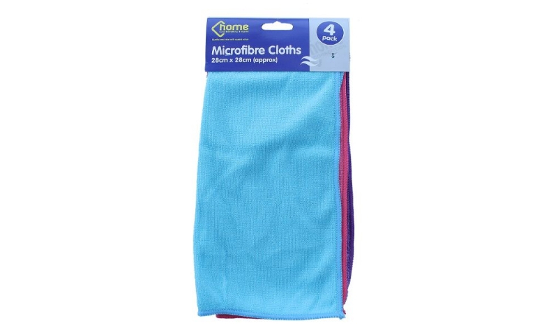 Microfibre Cleaning Cloths, 4pk